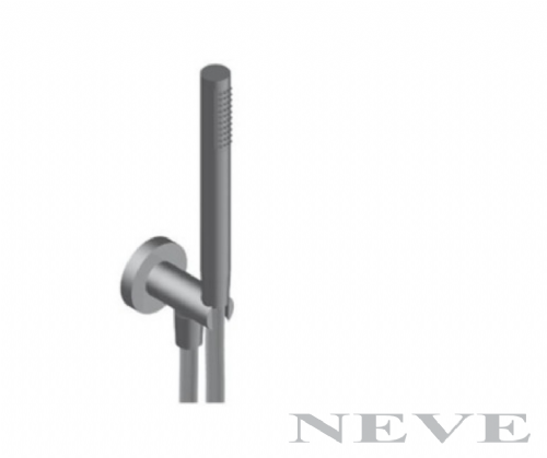 Neve Brass Handshower Kit - Fixed Bracket, hose and Showerhead - Model STAKDOCOT04